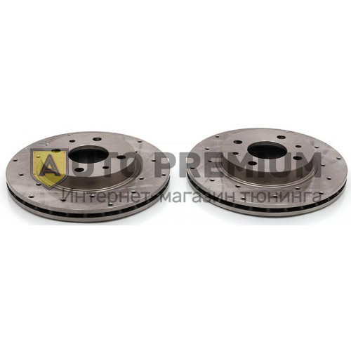Передние тормозные диски Alnas Sport 2112-03 с перфорацией, для автомобилей с радиусом диска R14
